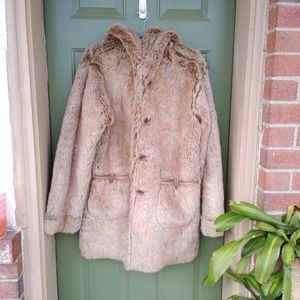 Jones New York Faux Suede Fur Reversible Coat